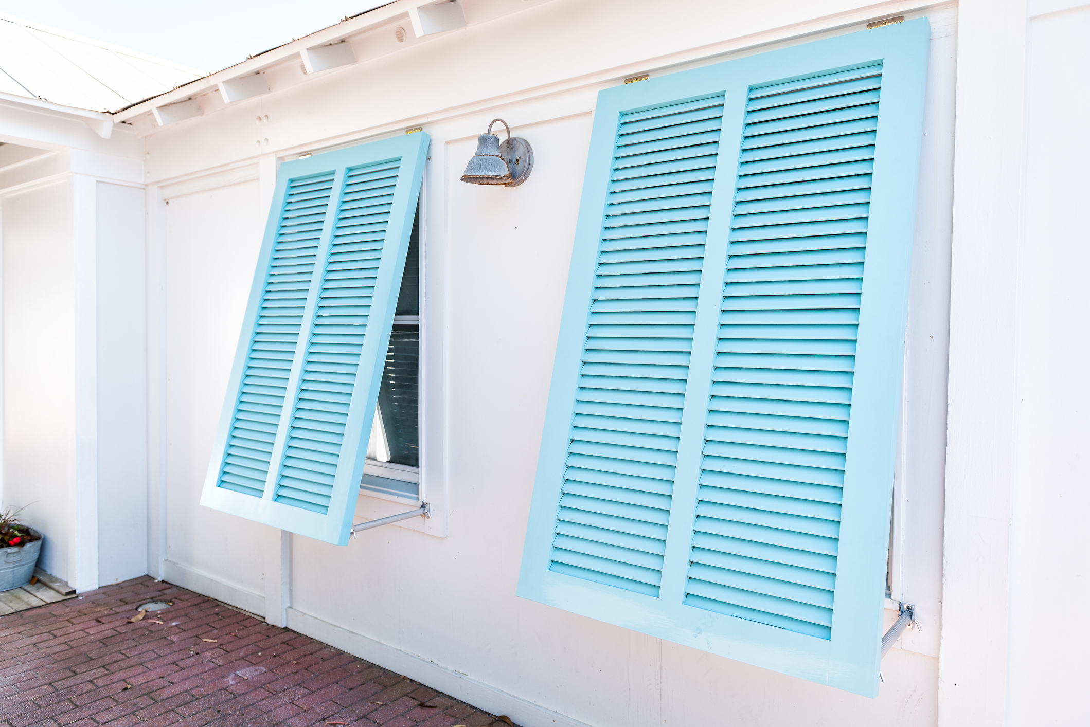 Blue Hurricane Shutters