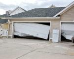 Hurricane damage to garage door