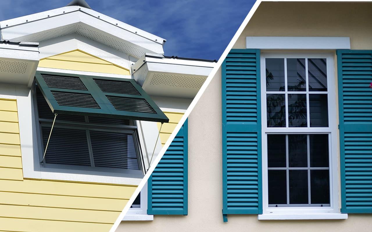 Bahamas Shutters VS Colonial Shutters